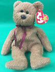 Curly BEAR RETIRED Ty Beanie Baby 1996 TAG & SUFACE Errors