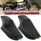 Driver Passenger Two-Up Seat Cushion For Harley Sportster 883 Custom XL883 04-17