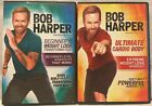 2 Bob Harper workout DVD lot Beginners weight loss transformation cardio body