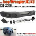 10th Anniversary Hard Rock Style Metal Rear Bumper Cover Jeep Wrangler 07 18 JK