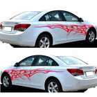 1 Pair Graphics Decals Stickers Flame Fire Totem Car Auto Side Body Accessories