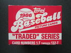 1986 Topps Baseball Traded Series Set, Factory Sealed, Bonds & Canseco Rookies