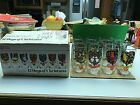 VINTAGE ANCHOR HOCKING 12 DAYS OF CHRISTMAS DRINKING GLASSES IN ORIGINAL BOX