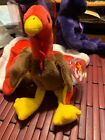 TY Beanie Baby ~ GOBBLES Thanksgiving Turkey ~ Retired with PVC Pellets (1996)