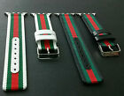 For Apple Watch Band Gucci Pattern Stripe Sport Replacement Leather Nylon Strap
