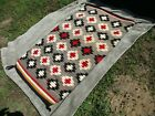 Vintage large Native American rug 28 by 48 excellent