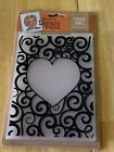 CRAFTERS COMPANION LEONIE PUJOL FOREVER SWIRLS HEARTS EMBOSSING FOLDER NEW