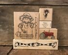 WHIPPER SNAPPER DESIGNS Dots HERO ARTS Fishing Tractor FATHERS DAY Rubber Stamps