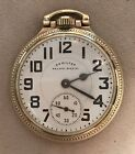 Hamilton Railway Special 21J 10K Plated Gold Pocket Watch Original Box