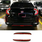 For Honda Civic 2017-19 Red Lens Full LED Bumper Reflector Tail