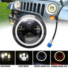 1X 7Inch Round 60W LED Halo Headlights Hi Lo for 97 18 JEEP JK TJ LJ Wrangler