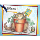 Stampendous cling mounted rubber stamp HOUSE MOUSE CATNIP SNACK cat