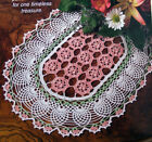 Crochet Pattern Only Exquisite Oval Floral Pineapple Doily Pastel Garden