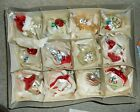 Vintage Set of 12 Glass Christmas Ornaments SMITHSONIAN INSTITUTE Made In Poland