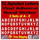 A Z Alphabet Letters 2 Sets Truck Jeep Car Window Vinyl Decals Stickers