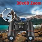 Day Night Vision Binoculars 30 x 60 Zoom Outdoor Travel Folding Telescope Bag US