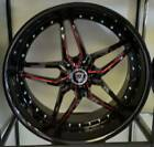 20X9 Marquee M 5331 5x115 Black and Red Mille Wheels fits Chrysler 300c Charger