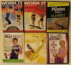 6 Michelle Dozois workout DVD lot Pilates for dummies weight watchers next move