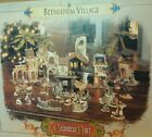 2001 Grandeur Noel 38 Pc Nativity Set Bethlehem Village in Box
