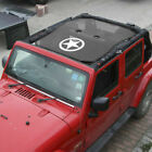 Bikini Top Roof Mesh Cover UV Sun Shade Accessories For Jeep Wrangler JK 4 Door