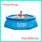 Big Swimming Pool Kids Family Summer Outdoor Garden 8ft X 30in Round Filter