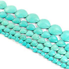 Blue Turquoise Gemstone Love Heart Spacer Beads Strand 16 Jewelry DIY