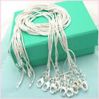 10PCS Wholesale Silver Plated 1MM Snake Chain Necklace Fits Pendant