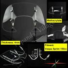 4mm Motorcycle Motorbike Windscreen Windshield Flyscreen For Vespa Sprint 150cc