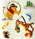 GONE FISHING WINNIE THE POOH Stickers6pcSandylionTiggerPole LakeRiverBoat