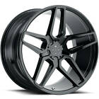 20x10 Black Blaque Diamond BD 17 5 Wheels 5x45 +35 Fits Lexus IS F GS350