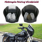 Quarter Head Fairing Windshield Smoke For Sportster XL883 1200 88-Up Dyna