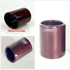 Glossy Red Carbon Fiber 89mm 35 Car Exhaust Muffler Pipe Cover Case Housing