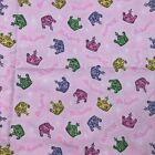 Fabric Traditions Pink Purple Princess Crown Sewing Flannel 61 x 45