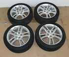 HYUNDAI I30 17 ALLOY WHEELS WITH TYRES 225 45 R17 TREAD 49 8mm SET OF 4 07 12