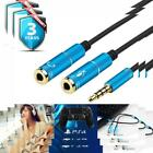 Headset Adapter Y Splitter 35mm Jack Cable with Separate Mic and 2T1 300