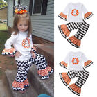 Baby Girls Halloween Outfit Cute Ghost Long Sleeve Tops+Long Pants Party Clothes