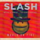 +T-SHIRT----> SLASH World on Fire EXCLUSIVE CD with LENTICULAR Cover Art    0911