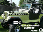 Jeep CJ7 Highly Polished Aluminum Diamond Plate Side ROCKER PANEL Set 6 Wide