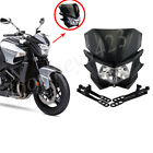 Universal Headlight Fairing Cover Headlamp 35W H4 H/L Beam Bulb For Motorcycle