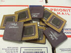 10 Vintage Intel Pentium ceramic CPU Processor Collection Gold Scrap Recovery