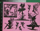 9 Fairy Black Silhouette Die cut Embellishment Scrapbook Jar lanterns Cards DIY