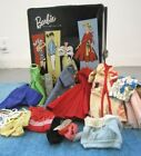 Vintage 1961 Ponytail Barbie Case Lot 13 Hangers 10 Doll Clothes 2 Necklaces