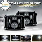 DOT 7x6 5x7 CREE LED Headlight Headlamp Black For Chevy S10 Blazer Spectrum