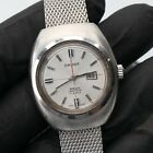 Vintage Orient Womens 8 Beat Watch Stainless Steel Running Fast Date Mesh Band