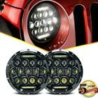 DOT Pair 7 inch LED Headlight Halo Hi Lo Beam For Jeep Wrangler CJ JK LJ 97 18