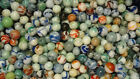 Alley Agate marbles  2 POUNDS 1932-1936 PENNSBORO w/ 2 BLUE SKIES