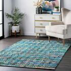 nuLOOM Contemporary Hand Woven Chevron Rochell Area Rug in Green