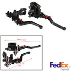 2 Pcs 22mm Motorcycle CNC Brake Clutch Master Cylinder Reservoir Levers US Stock