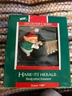 Hallmark Collectible Keepsake Ornament Hark It's Herald Elf 1989 Chimes orig box