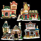 PROCELAIN LIGHTED vintage CHRISTMAS VILLAGE HOUSES / 3-D / LEMAX / YOUR CHOICE!
